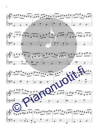 Koraali Jesus bleibet meine Freude. Nuotti ja sovitus pianolle. Sivu 2.