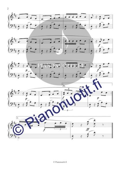 Habanera oopperasta Carmen, säv. Georges Bizet. Pianonuotti, sivu 2