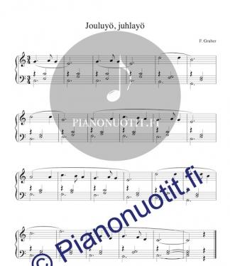 Jouluyö, juhlayö – pianonuotti. Stille Nacht.