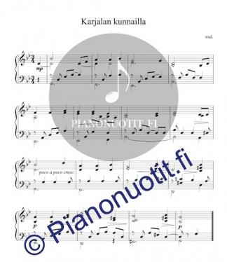 Karjalan kunnailla - sovitus pianolle