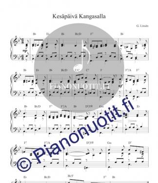 Kesäpäivä Kangasalla - nuotti pianolle sisältää soinnut