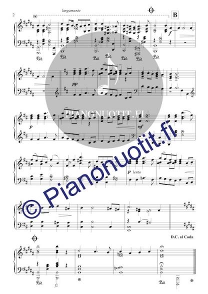 Toivo Kuula: Häämarssi. Helpotettu nuotti pianolle (H-duuri), sivu 2