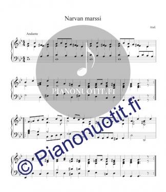 Narvan marssi. Nuotti, piano.