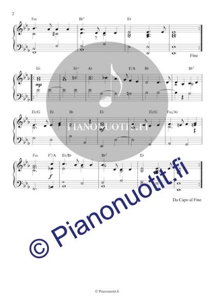 Porilaisten marssi. Sovitus (nuotti) pianolle. Sivu 2