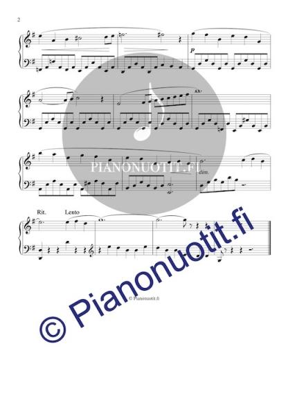 Joutsen. Nuotti, piano. Sivu 2.