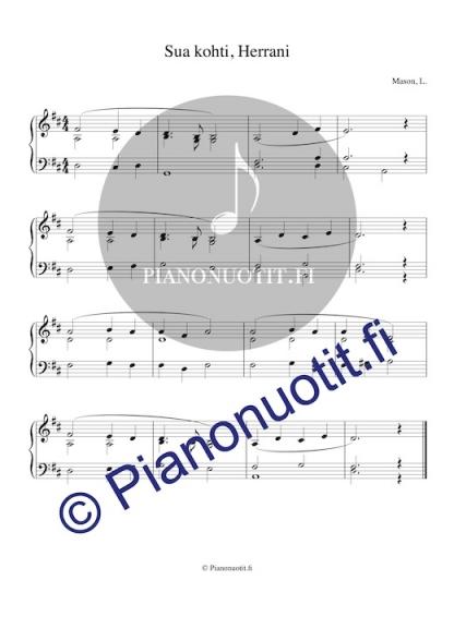 Virsi 396 – Sua kohti, Herrani. Nuotti, piano.